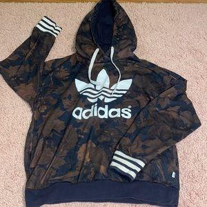 Trefoil Adidas special edition hoodie camo leaf